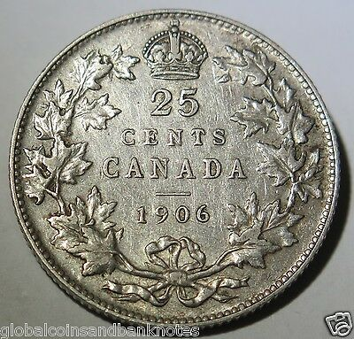 Canada 1906 - George V, Silver 25 Cents
