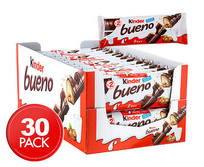 30 x Kinder Bueno Banded Chocolate Bars 43g