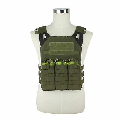 Adjustable Military Tactical MOLLE Plate Carrier Vest Combat Body Armor 5 Colors