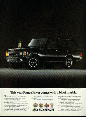 This year Range Rover comes with a bit of marble ad 1989