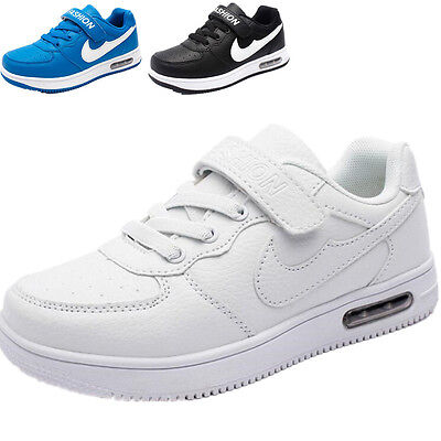 Kids Boys Girls White Student Sports Shoes Running Casual Shoe Sneakers