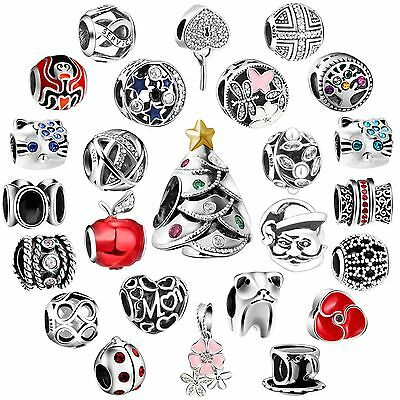 European 2018 New Jewelry Charms Fit Bead Sterling 925 Silver Bracelets Necklace