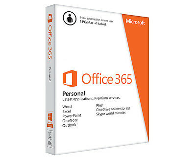 Microsoft Office 365 Personal Edition For 1 PC Software Download