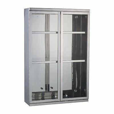 HOMCOM Wall Mounted Cabinet Mirror Storage Large Glass Double Doors Shelves