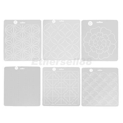 Plastic Embroidery Template Quilting Stencils Patchwork Handmade Tools