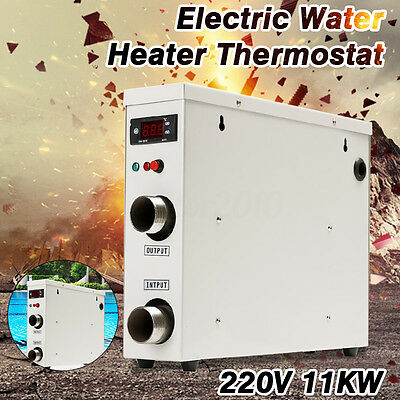 11KW 220V ElectricTankless Thermostat Water Heater For Swimming Pool SPA New Hot