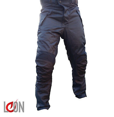 Mens Motorcycle Waterproof Trousers CE Armoured Textile Motorbike  Thermal Pants