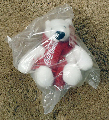 "COCA COLA Polar Bear ARCTIC HOME 4"" plush NIB new WWF"