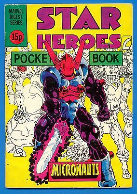 Star Heroes.pocket Book.the Micronauts.marvel Digest Series