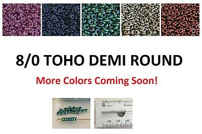 Demi Round 8/0 Toho Glass Seed Beads 5-Grams Choose Tiny Donut New Arrivals