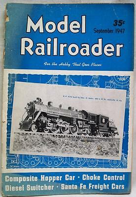 The Model Railroader Magazine Sep 1947 Vintage Train Railroad Collecting Hobby