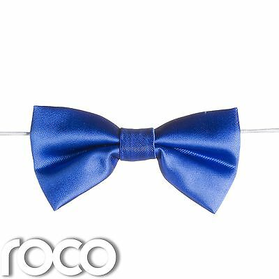 Boys Royal Blue Elasticated Dickie Bow Tie Page Boy Wedding Prom Dickie Bows