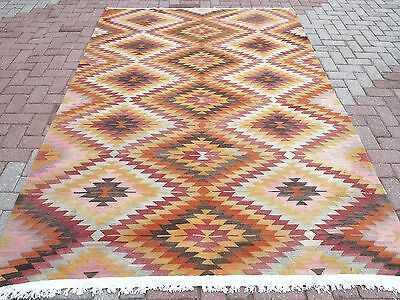 "Anatolia Turkish Classic Antalya Kilim 68,1"" x 106,2"" Area Rug Kelim Carpet"