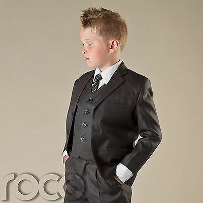 Boys Grey Suit, Communion Suit, Formal Prom Suits, Wedding Suits, 1 - 12 years