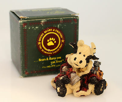 Boyds Bears Bearstone Figurine Collection 1993 Bessie the Santa Cow - #2239