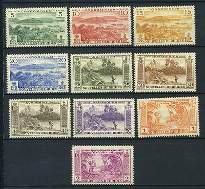 17-02-06205 - New Hebrides - French Administration 1957 Yv.  175-184 MNH 100% Co