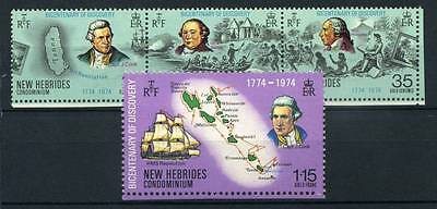 17-02-06214 - New Hebrides - French Administration 1974 Yv.  398-401 MNH 100% Di
