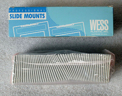 "WESS Professional Slide Mounts NEW unused 50 2"" X 2"" glass mounts"