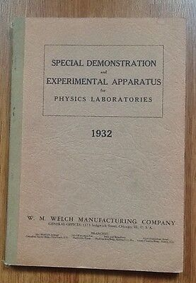1932 WELCH Science Experimental & Demonstration Laboratory Apparatus Catalog /