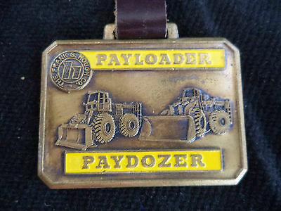 Heavy Equipment Advertising Pocket Watch Fob Hough Payloader Paydozer Enameled