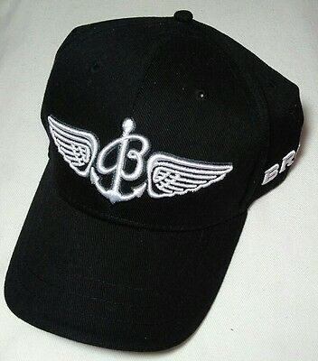BREITLING Since 1884 Black White Embroidered Adjustable Baseball Cap Hat NEW
