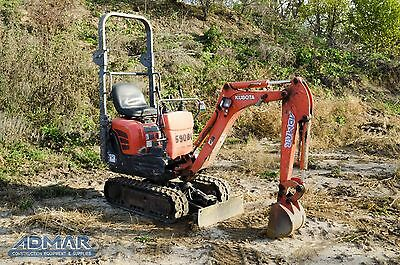 2011 KUBOTA KX008T4 Excavator, with Open Cab, and Standard Blade.