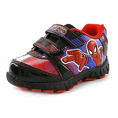 Spider-Man Boys Character Print Light Up Sneaker Size  7 8 9 10 11 12