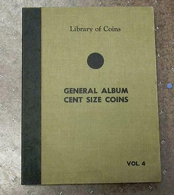 Library Of Coins  General Album For Cent Size Coins -  Id#j682