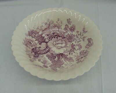 """Charlotte Royal Staffordshire 8"""" Serving Bowl Clarice Cliff Purple Plum Dishes"""
