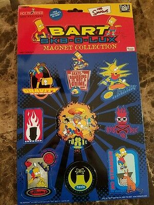 The Simpsons Bart SK8 O LUX 10 PC Magnet Set Funny TV Cartoon