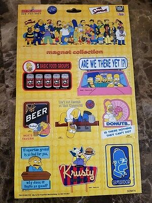 The Simpsons 9 PC Magnet Collection Set Funny TV Cartoon
