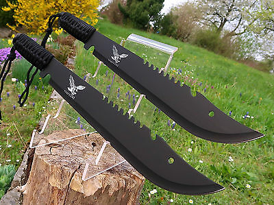 2 Stück Massive Machete 49 cm Huntingknife Machette Coltello Black Cutit M003 OT