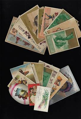 Lot - 22 Trade Cards All w/Advertising, All Pictured Front and Back