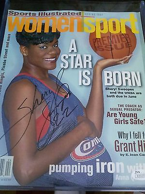 Sheryl Swoopes Autographed Sports Illustrated Women Sport with JSA Certification