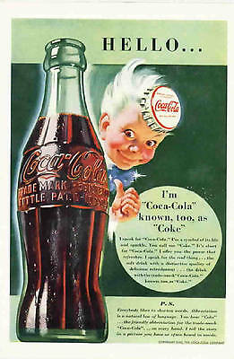 10 Different Coca-Cola Magazine Ads from the 1930's, 1940's, 1950's, 1960's Coke