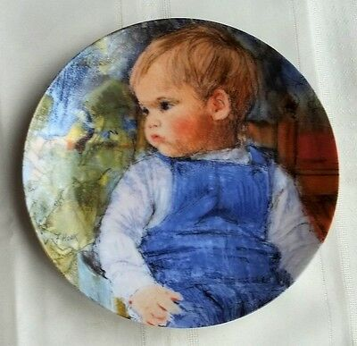 "1987 KNOWLES FINE CHINA PLATE FRANCES HOOK LEGACY ""EXPECTATION"" 6th IN SER - NEW"