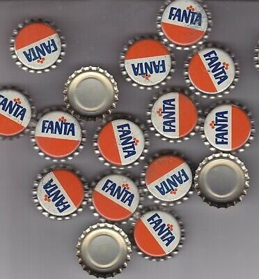 Fanta Orange Soda Bottle Caps..100 Pieces  Plastic Lined Unused  Never Crimped