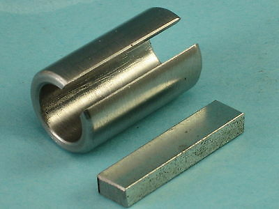 14mm X 3/4 X 1-1/4  Shaft Adapter Bore Reducer Bushing & Key