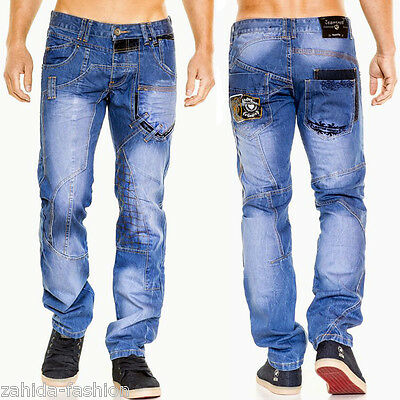 Zahida JEANSNET Men s Jeans Pants Thick Seams Cosmo Clubwear Blue Cargo Lupo  NEW 774fc4a045