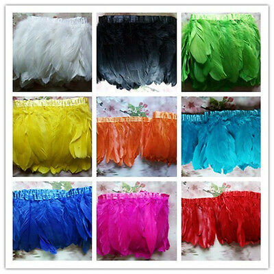 Wholesale 1-2 yards 6-8inches/15-20cm Goose feather ribbon Garment accessories