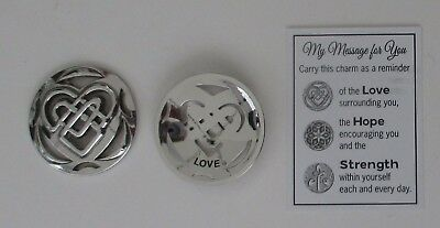 J Heart Love MY MESSAGE FOR YOU with meaning POCKET TOKEN CHARM ganz