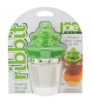 Harold Joie Ribbit Floating Frog Stainless Steel Tea Cup Infuser w/ Storage Bowl