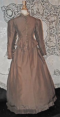 Antique Dress 1892 Walking Outfit Original Victorian 2 - Piece