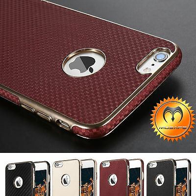Luxury Slim Hybrid Leather Ultra Thin Back Case Cover For iPhone 6 6S 7 / Plus
