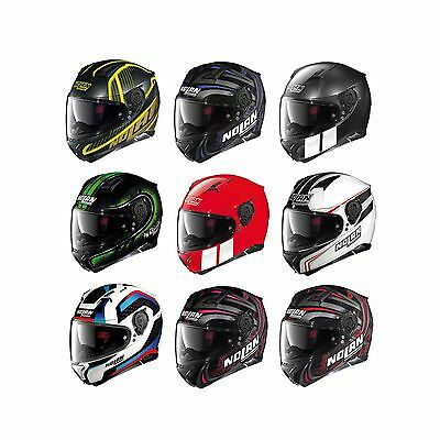 Nolan Road Motorcycle Bike N87 N-Com Graphic Full-Face Crash Helmet Lid