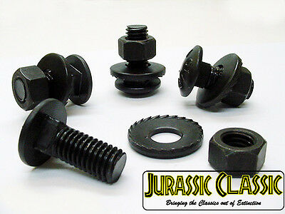 1961-1984 Chevy Black Oxide Bumper Bracket Carriage Bolts Nuts Washers Kit NOS