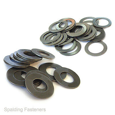 Metric Self Colour Steel Shim Washers - 0.1mm Thick