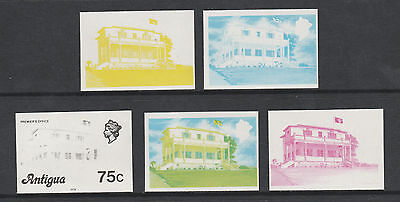 Antigua 2957 - 1976 PREMIER'S  OFFICE  75c set of PROGRESSIVE PROOFS unmounted