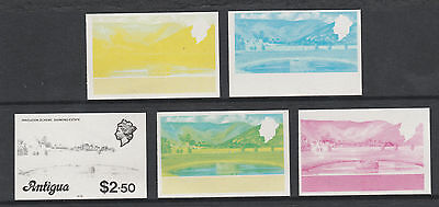 Antigua 2960 - 1976 IRRIGATION  $2.50 set of PROGRESSIVE PROOFS unmounted