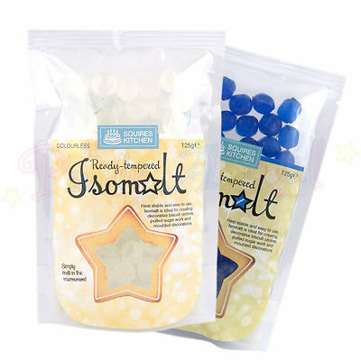 Squires Kitchen Ready Tempered ISOMALT Heat stable 125g: Edible Cake Decorating